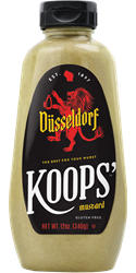 Koops' Düsseldorf Mustard, 12 oz. Bottle