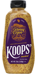 Koops' Honey Dijon Mustard, 12 oz. Bottle