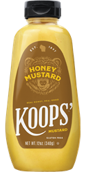 Koops' Honey Mustard, 12 oz. Bottle
