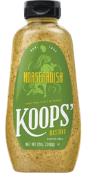 Koops' Horseradish Mustard, 12 oz. Bottle