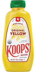 Koops' Organic Yellow Mustard, 12 oz. Bottle