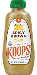 Koops' Organic Spicy Brown, 12 oz. Bottle