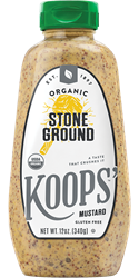 Koops' Organic Stone Ground Mustard, 12 oz. Bottle