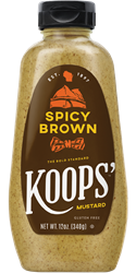 Koops' Spicy Brown Mustard, 12 oz. Bottle